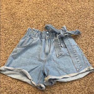 Zara paper bag shorts